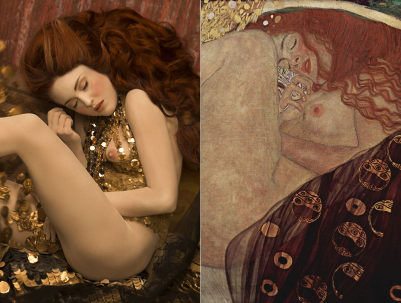 La asombrosa recreación de las pinturas de Klimt con modelos reales
