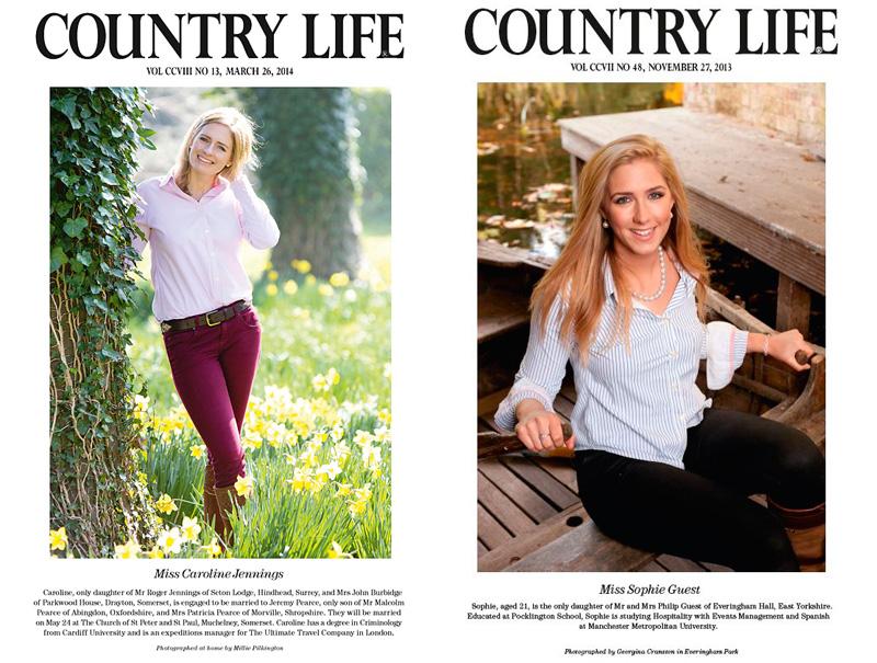 Algunas de las 'damas' del S.XXI que presenta en sociedad 'Country Life'.