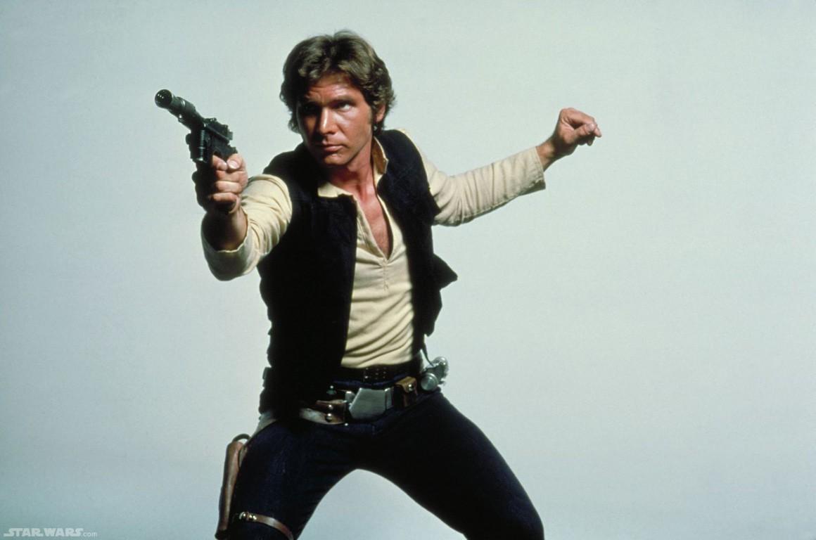Harrison Ford como Han Solo.