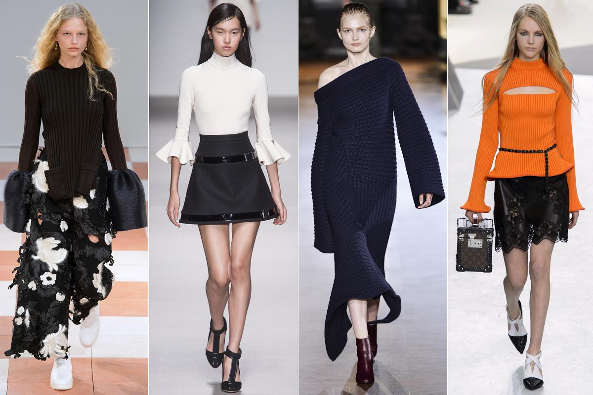 Colecciones otoño/invierno 2015 de Céline, David Koma, Stella MacCartney y Louis Vuitton. Foto: Imaxtree