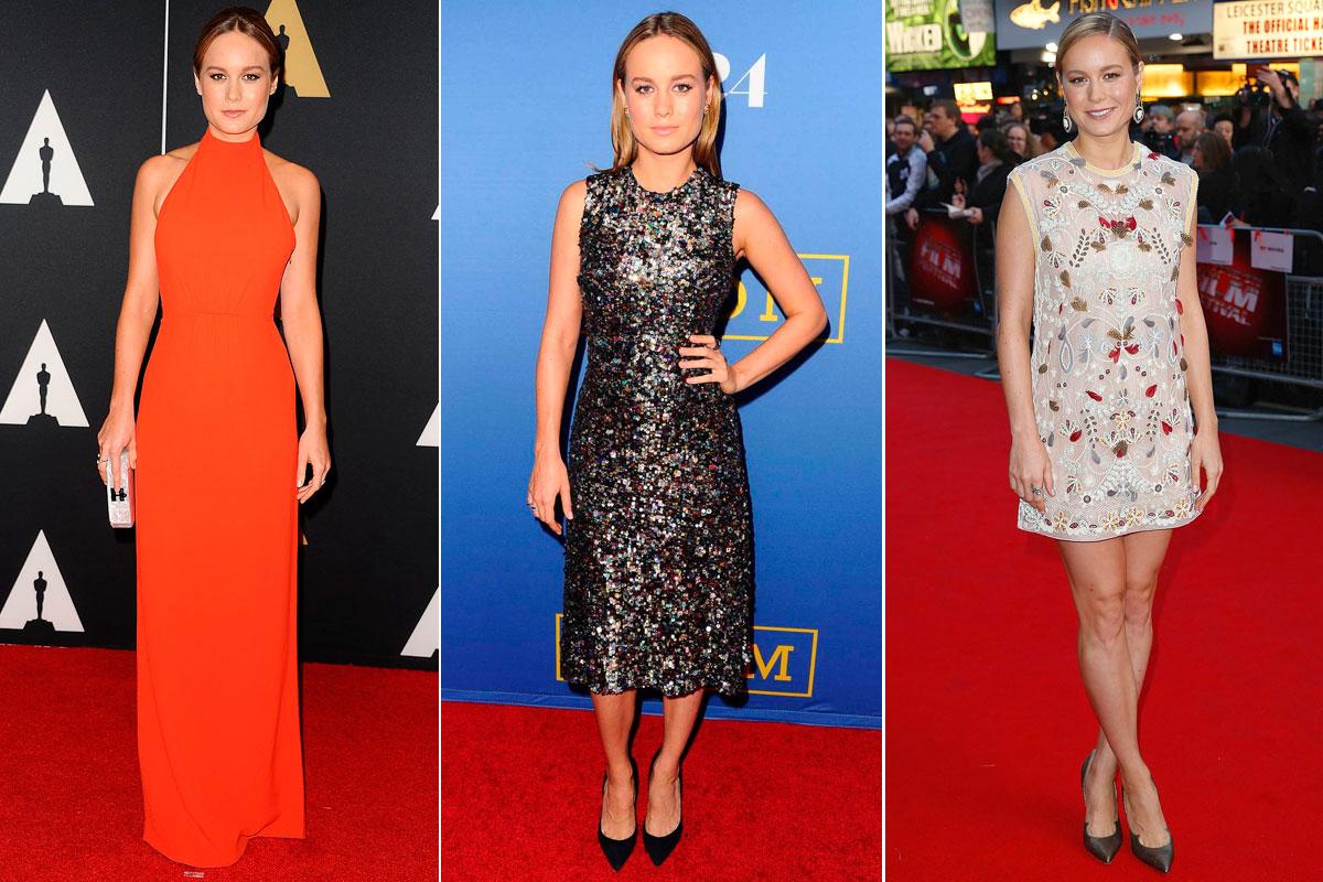 Tres de los looks de la actriz durante el tour de promoción de 'Room'.