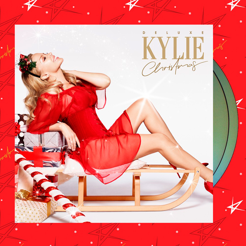 Portada dle disco navideño de Kylie.