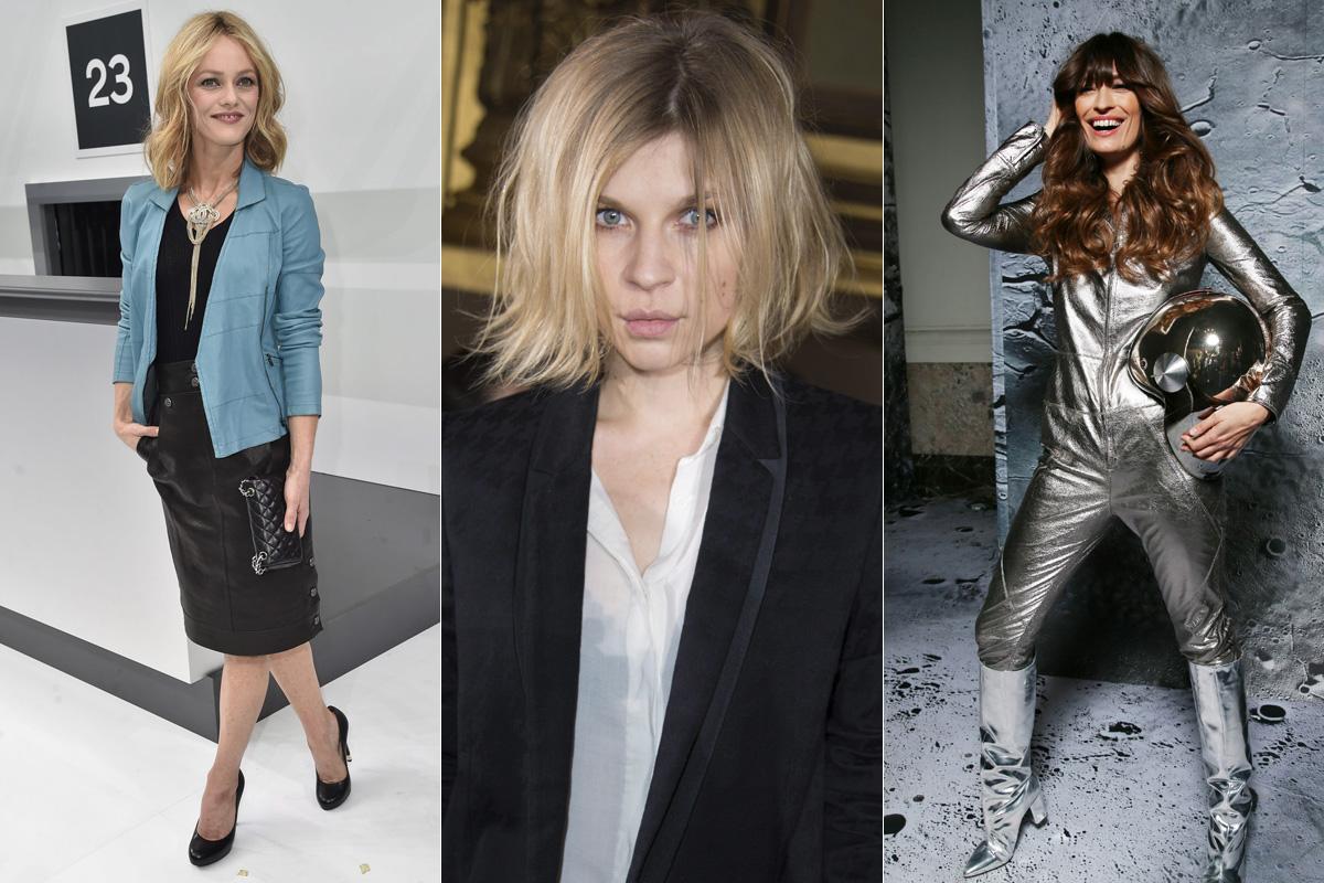 Vanessa Paradis, Clemence Poesy y Caroline de Maigret, tres iconos del estilo parisino.