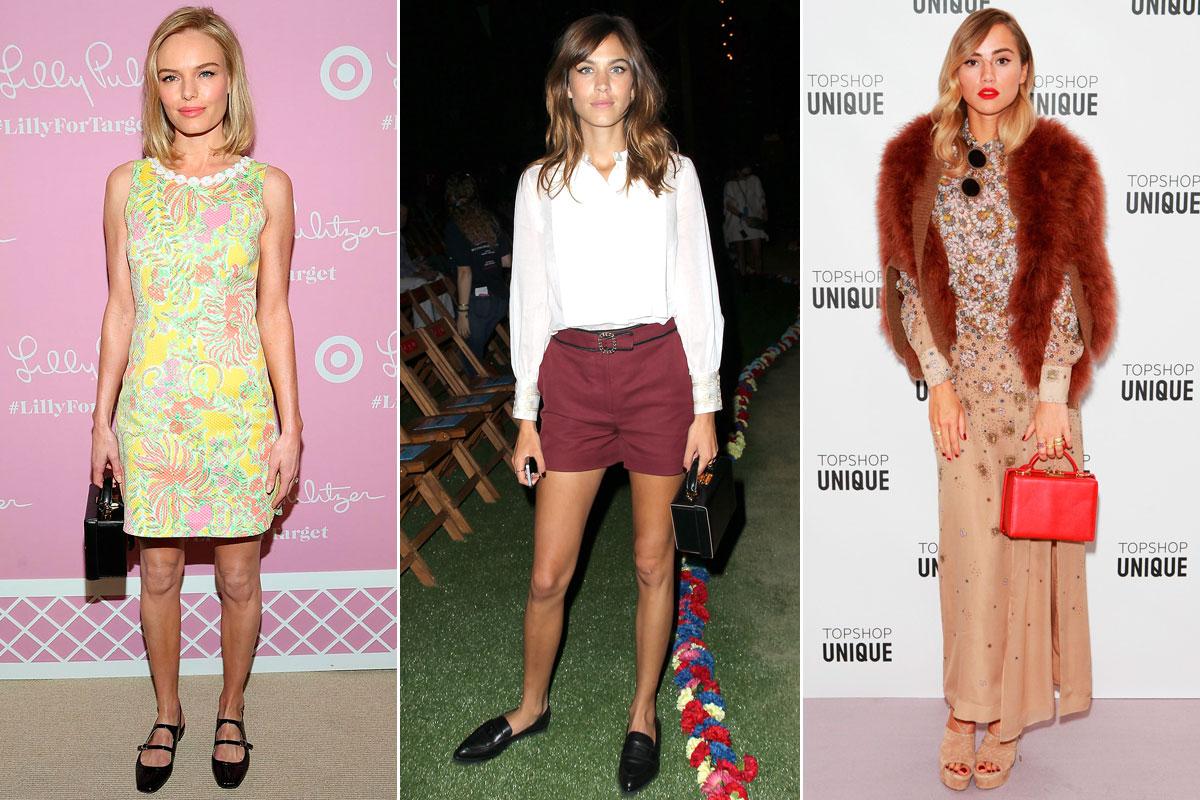 Kate Bosworth, Alexa Chung y Suki Waterhouse son incondicionales del modelo 'Grace'.