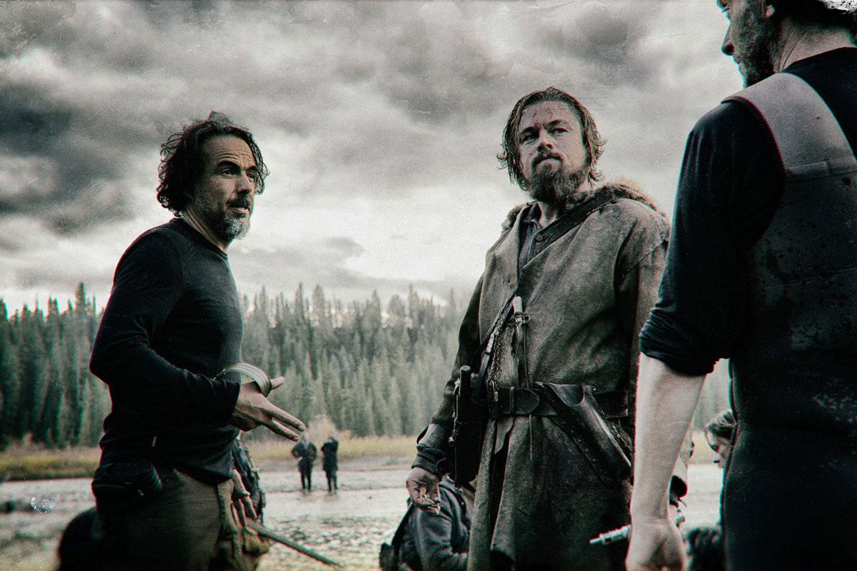 Iñárritu y DiCaprio durante el rodaje de 'El Renacido'.