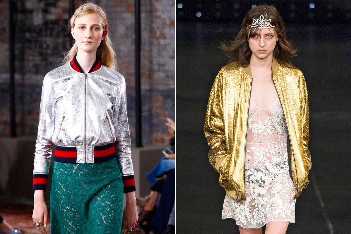 Las opciones metalizadas de Gucci y Saint Laurent.