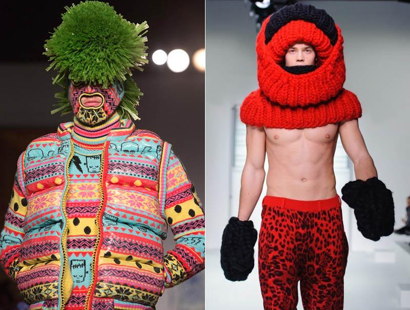Seguro que a la comunidad 'wooly' le interesan estos estilismos de pasarela que la británica Sibling ideó en 2014.
