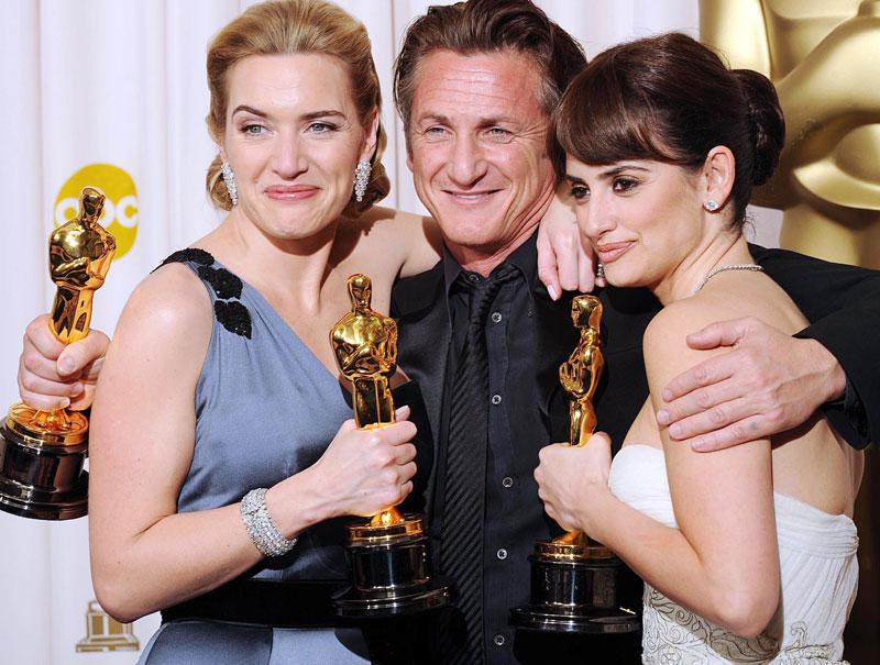 Kate Winslent, Sean Penn y Penélope Cruz.