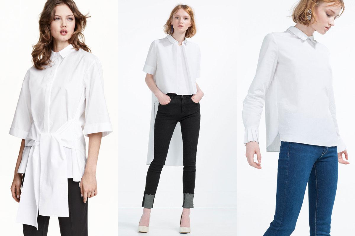 Propuestas de H&M (izquierda) y Zara.