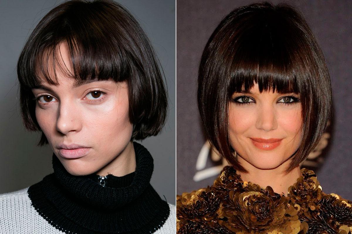 La modelo Charlee Fraser ha paseado su melenita a la francesa por las pasarelas neoyorquinas. Katie Holmes lució el peinado hace unos años.