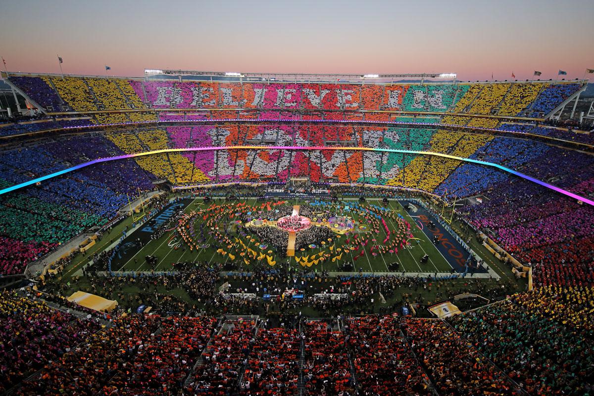 El multitudinario mosaico del Levi´s Stadium