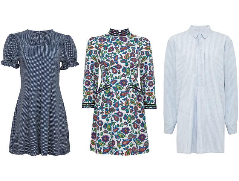 Tres de los vestidos de la colección.