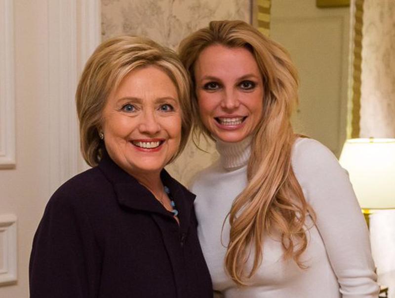 De Bush a Hillary: ¿Por qué Britney Spears cambia de bando político?