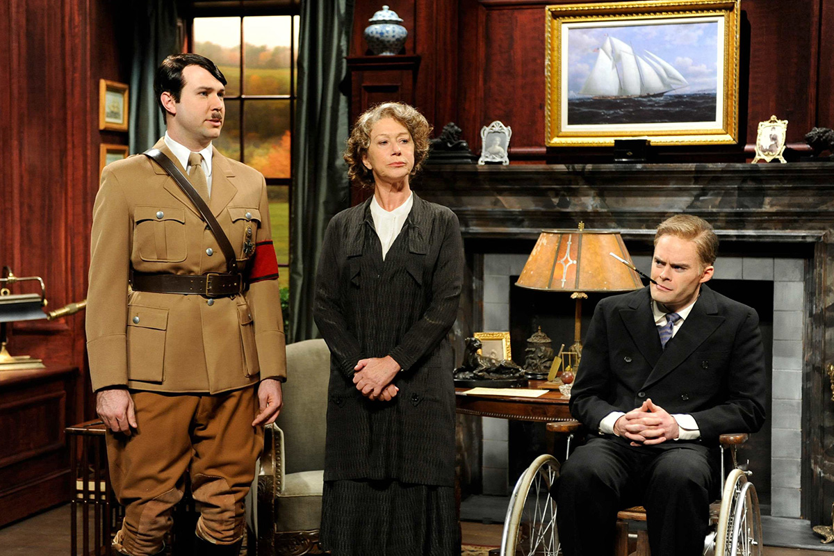 Adolf Hitler, Eleanor y Franklin Roosevelt, parodiados en 'Saturday Night Live'.