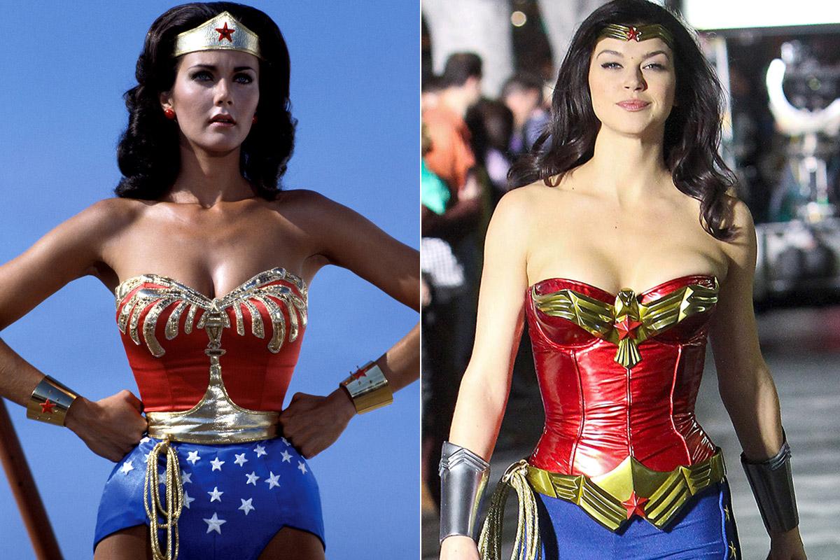 Lynda Carter y Adrianne Palicki, las Wonder Woman de la televisión.