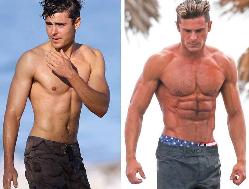 La transformación de Zac Efron para trabajar en 'Los Vigilantes de la Playa'