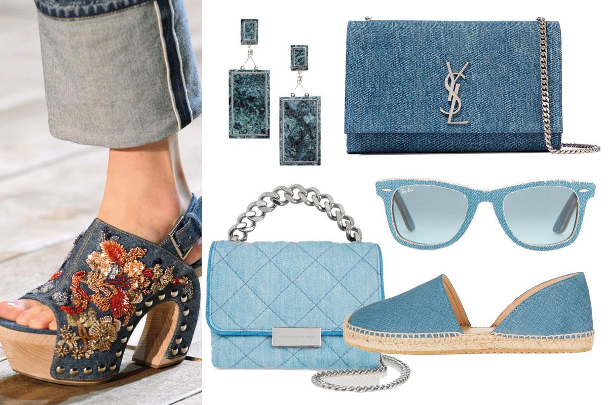 Zapatos, bolsos y accesorios; la fiebre 'denim' lo invade todo.