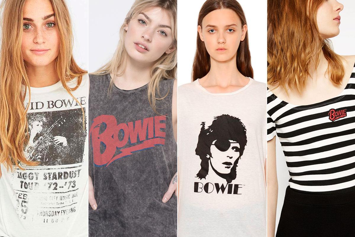 Camisetas de Urban Outfiters, Pull & Bear, R13 y Zara.