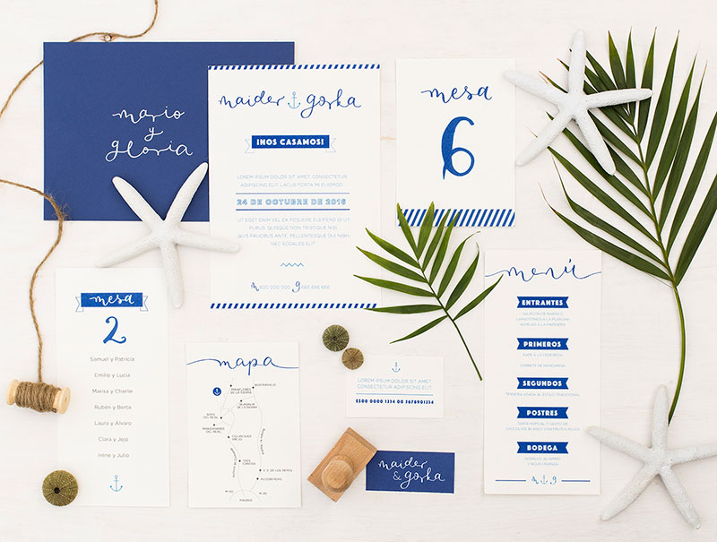 invitaciones de boda happy letters