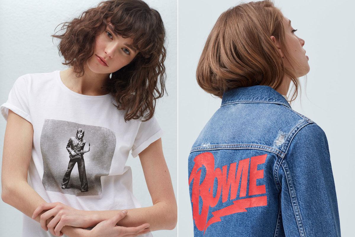Camiseta y cazadora 'Bowie' de Mango.