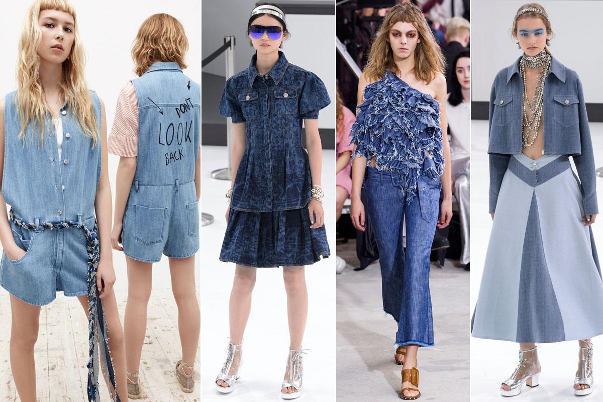 'Total look' de Zara, Chanel (segundo y cuarto) y Marques'Almeida.