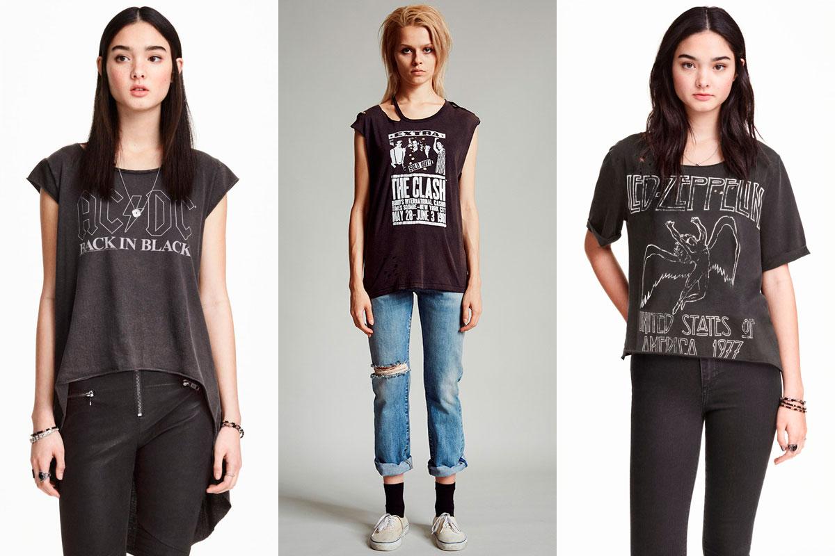 H&M y R13, fieles a las camisetas de grupos.