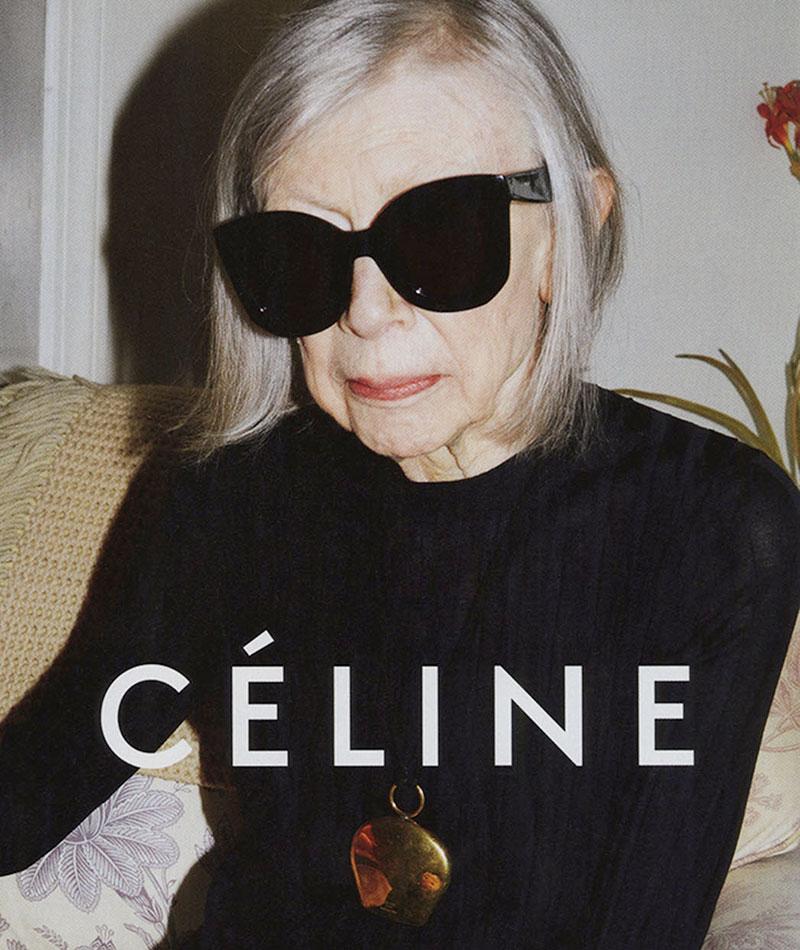 La campaña de Joan Didion para Céline.