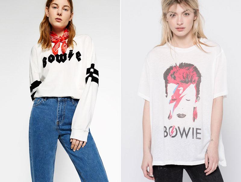 Prendas de Bowie para todos: la moda sigue obcecada con las camisetas de grupos