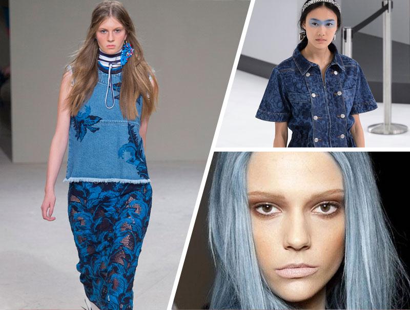 Pelo, ropa y maquillaje: el 'denim' lo invade todo