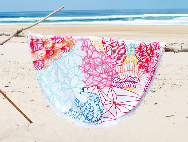 Obsesi n para el verano toallas de playa redondas hechas con mucho amor s moda el pa s - Toallas redondas de playa ...