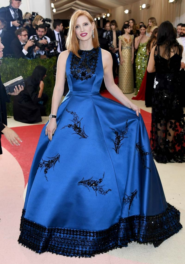 jessica chastain gala met 2016