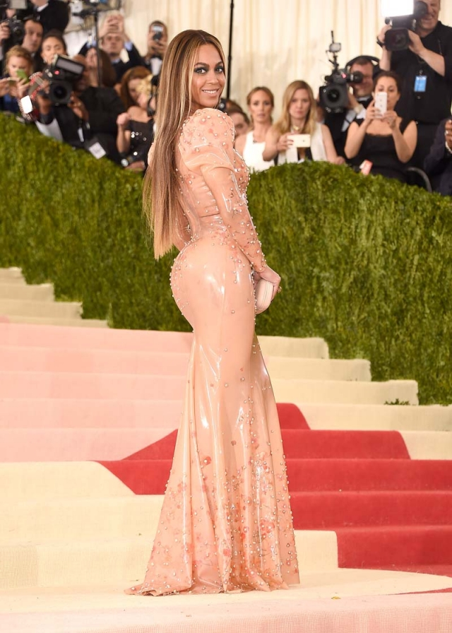 gala met 2016 beyonce vestido latex