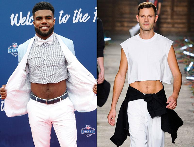 La moda está empeñada en que el 'crop top' también sea para hombres