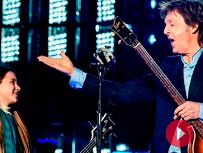 La niña que se subió a tocar el bajo con Paul McCartney
