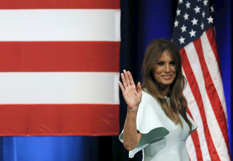 Melania Trump en pleña campaña en Milwaukee, Wisconsin, el pasado 4 de abril.