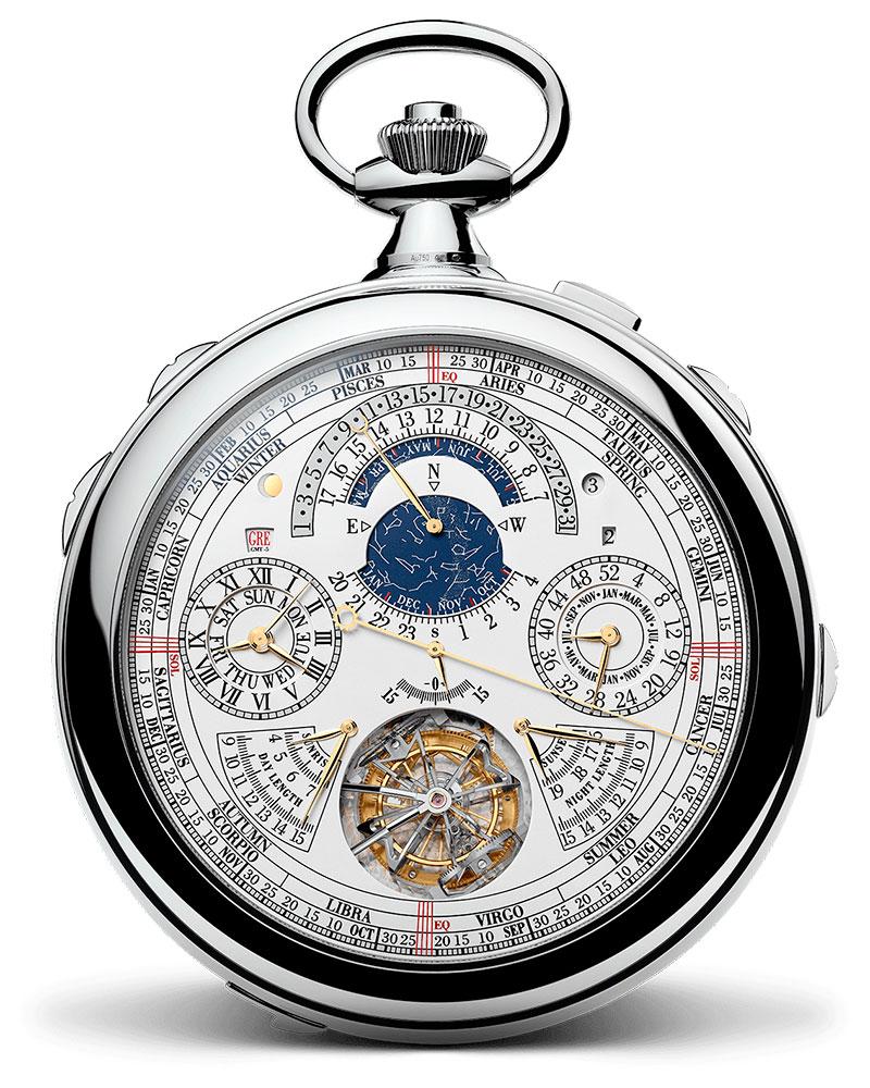 Relojes de alta Gama, El modelo de bolsillo 57260 de Vacheron Constantin refleja una evolución técnica sin precedentes para la Alta Relojería. Se trata del reloj con más complicaciones jamás realizado.