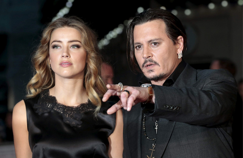 Amber Heard y Depp en la premiere de 'Black Mass' en octubre de 2015.