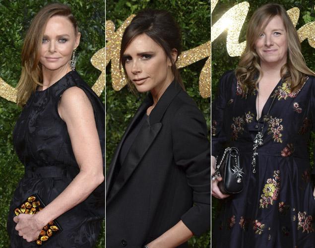 Stella Mccartney, Victoria Beckham y Sarah Burton (Alexander McQueen); tres nombres pesados de la industria británica.
