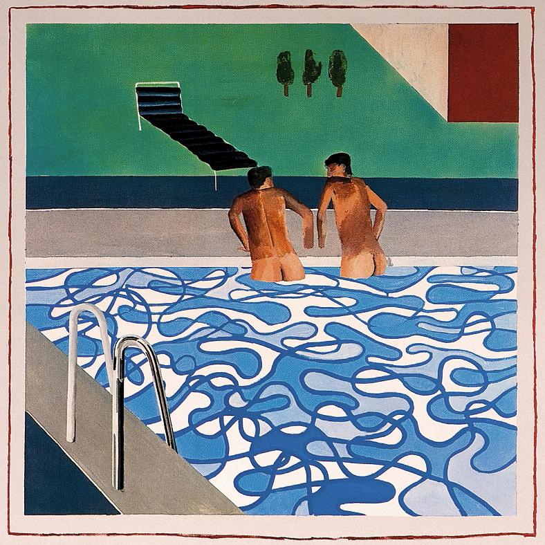 Two boys in a pool (1965), de David Hockney, el pintor que más matices ha sacado al cloro como símbolo de estatus y escenario de acecho sexual.