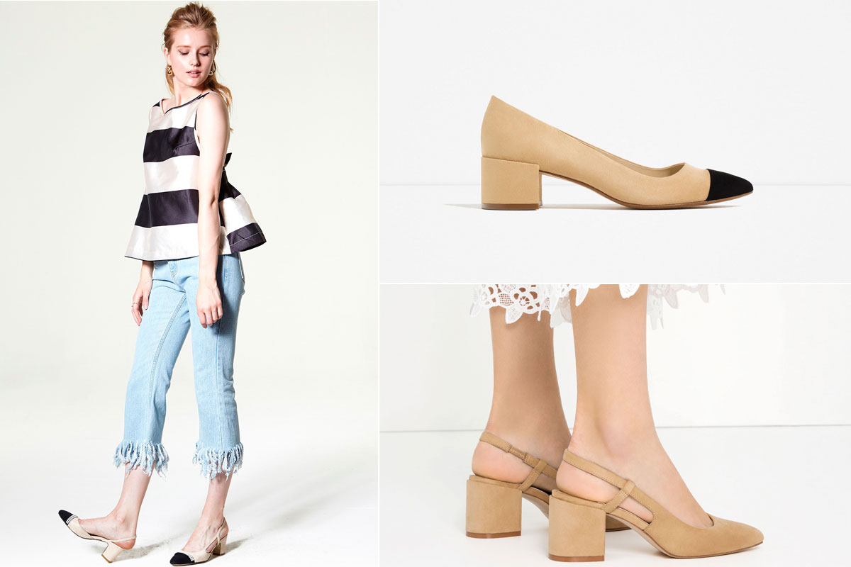 clones zapato bicolor zara