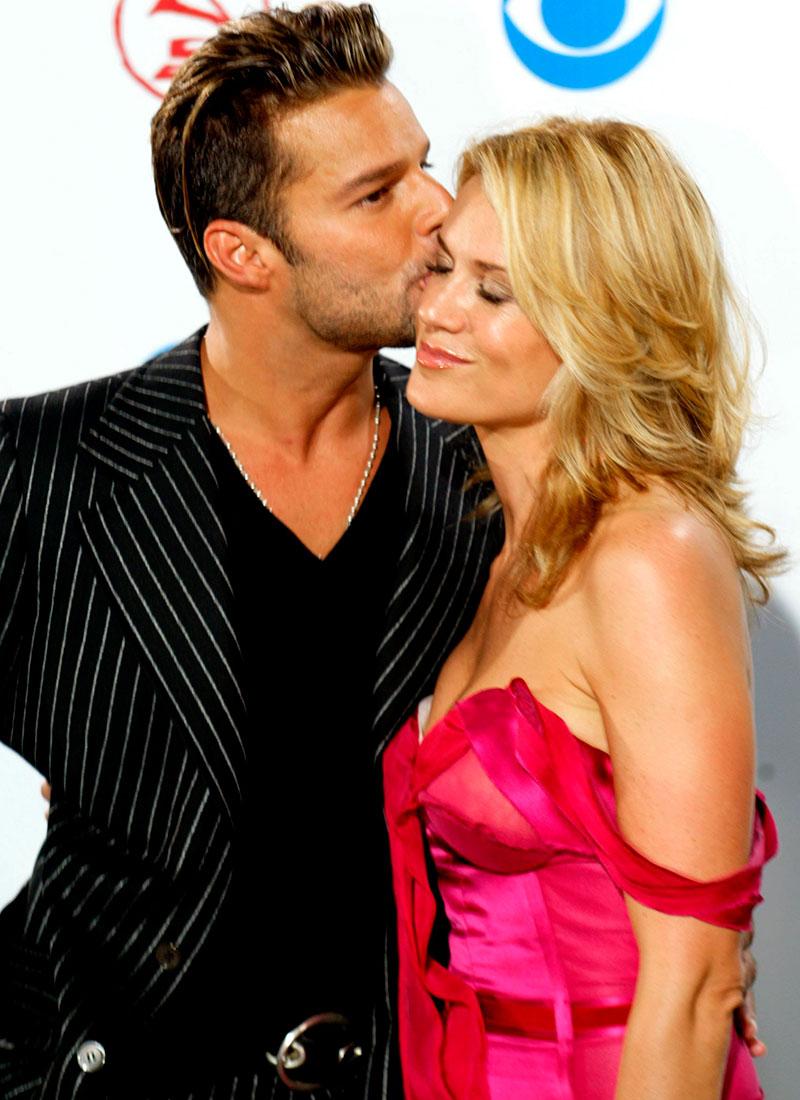 Ricky Martin con su ex novia Rebecca Alba en 2003.