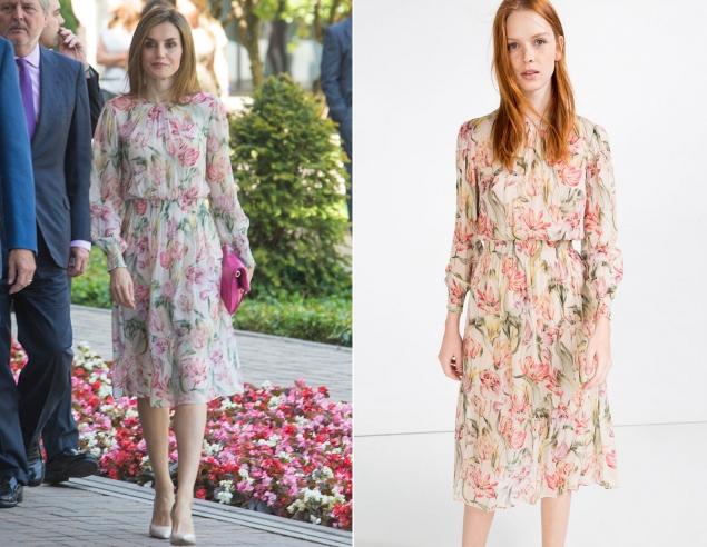 Letizia se viste de Zara (y de rebajas)