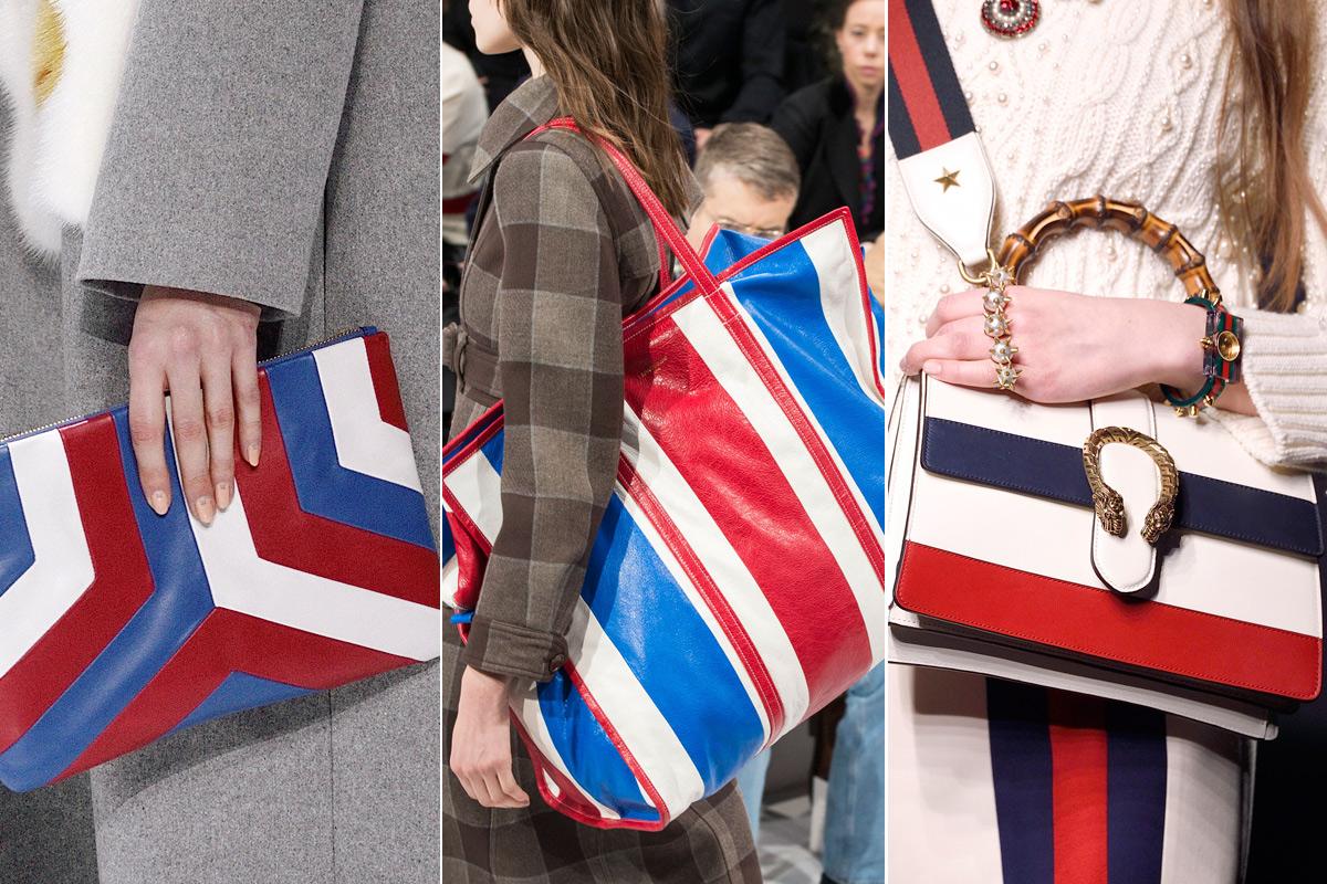Bolsos de Anya Hindmarch, Balenciaga y Gucci.