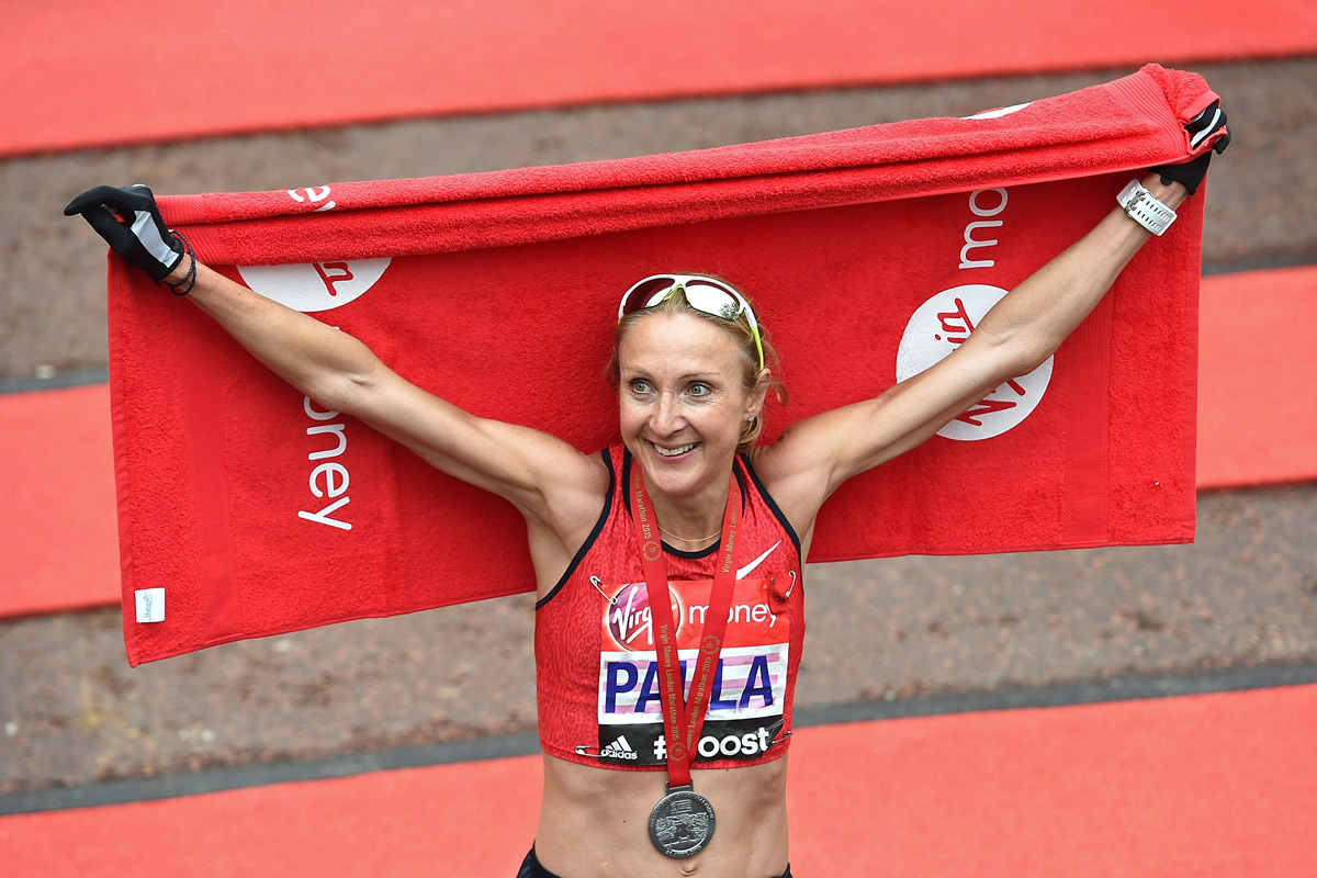 Paula Radcliffe.