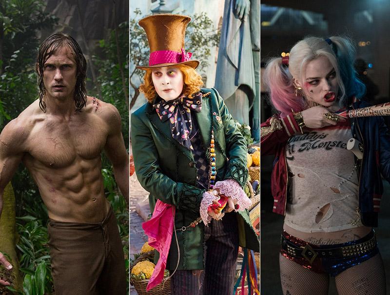 Alexander Skarsgard, Johnny Depp y Margot Robbie, protagonistas de algunos de los estrenos más esperados de la temporada.