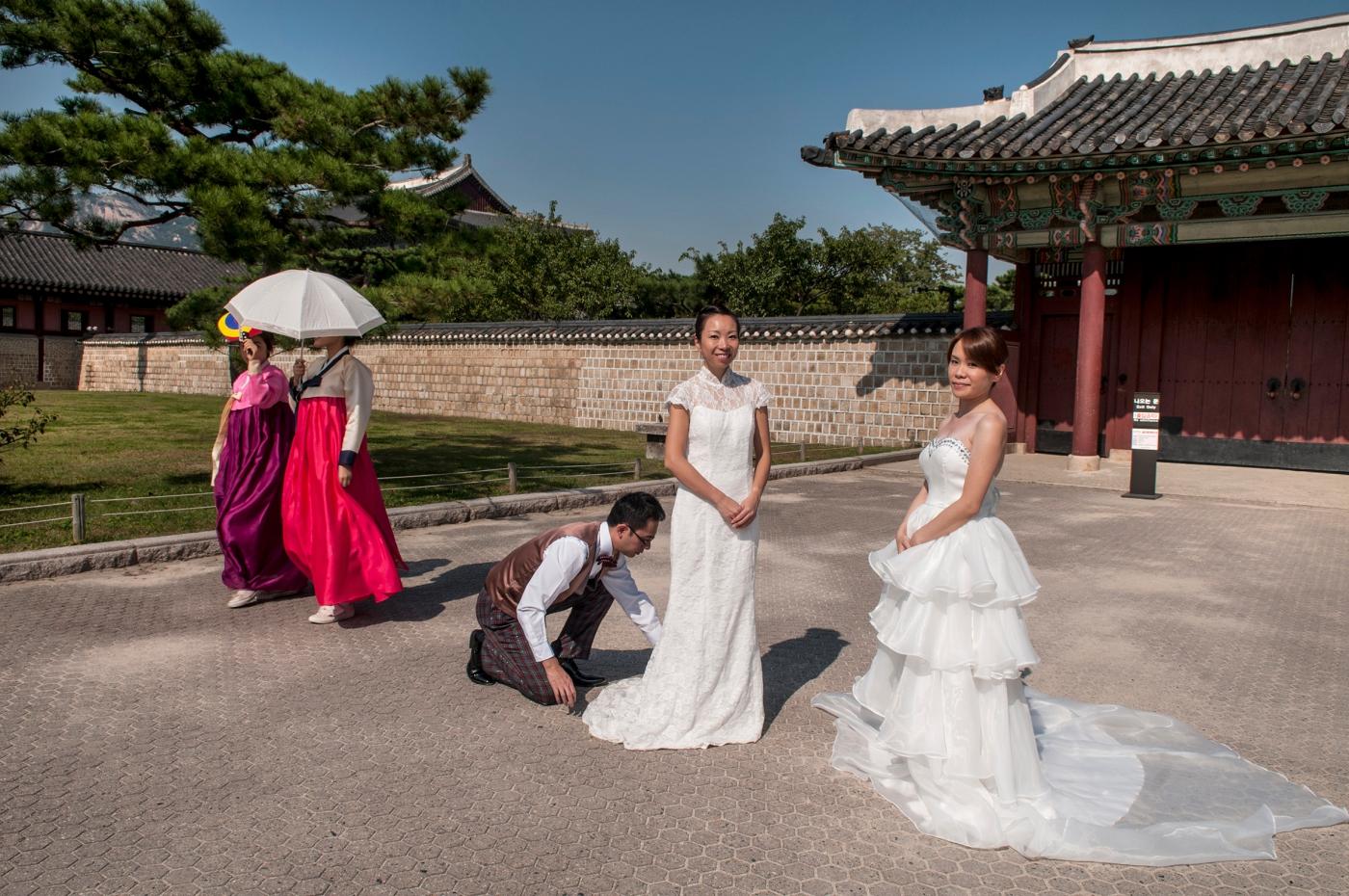Posados de novias en el palacio de Gyeongbokgung