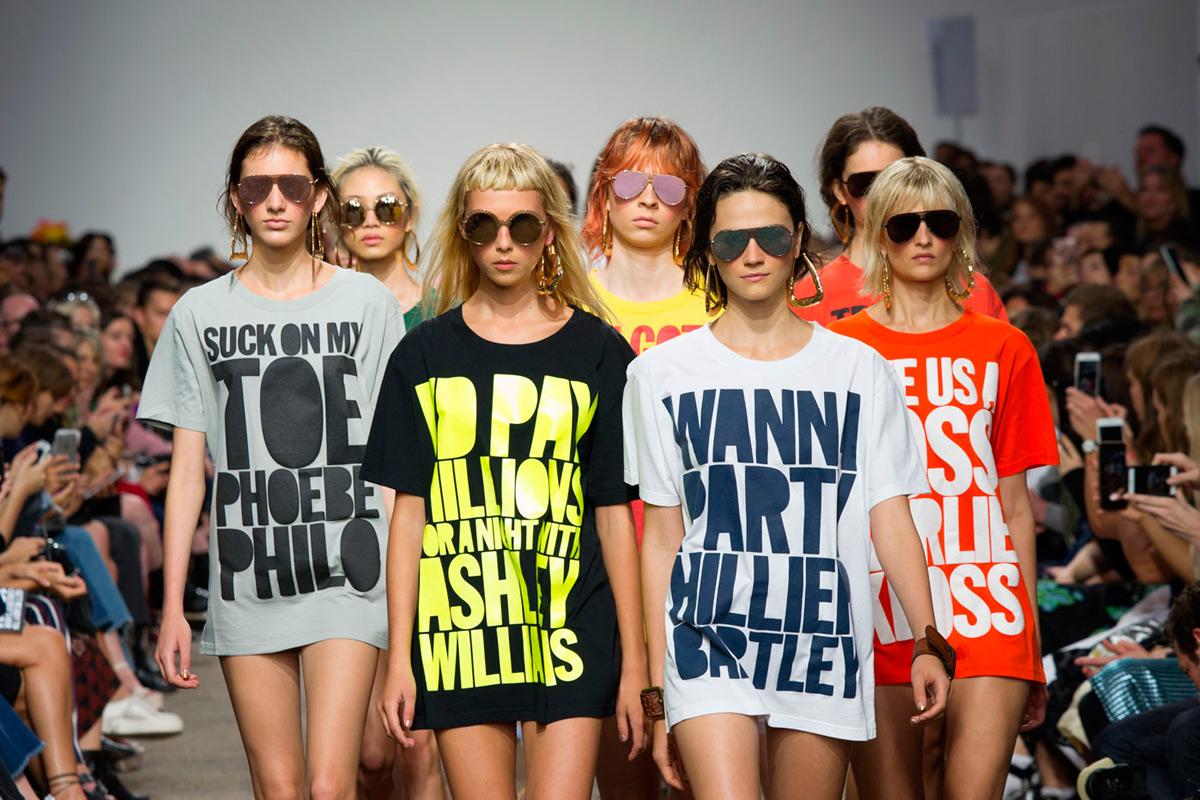 La provocación en forma de camisetas de House of Holland.