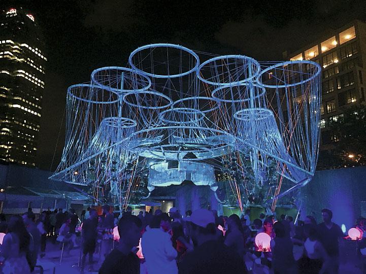 COSMO, instalación de 2015 para el MoMA PS1 de Nueva York.