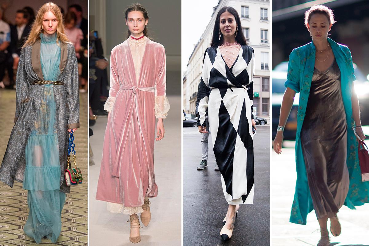 Pasarela y street style se ponen de acuerdo y dicen sí a combinar el batín con los vestidos de la temporada.