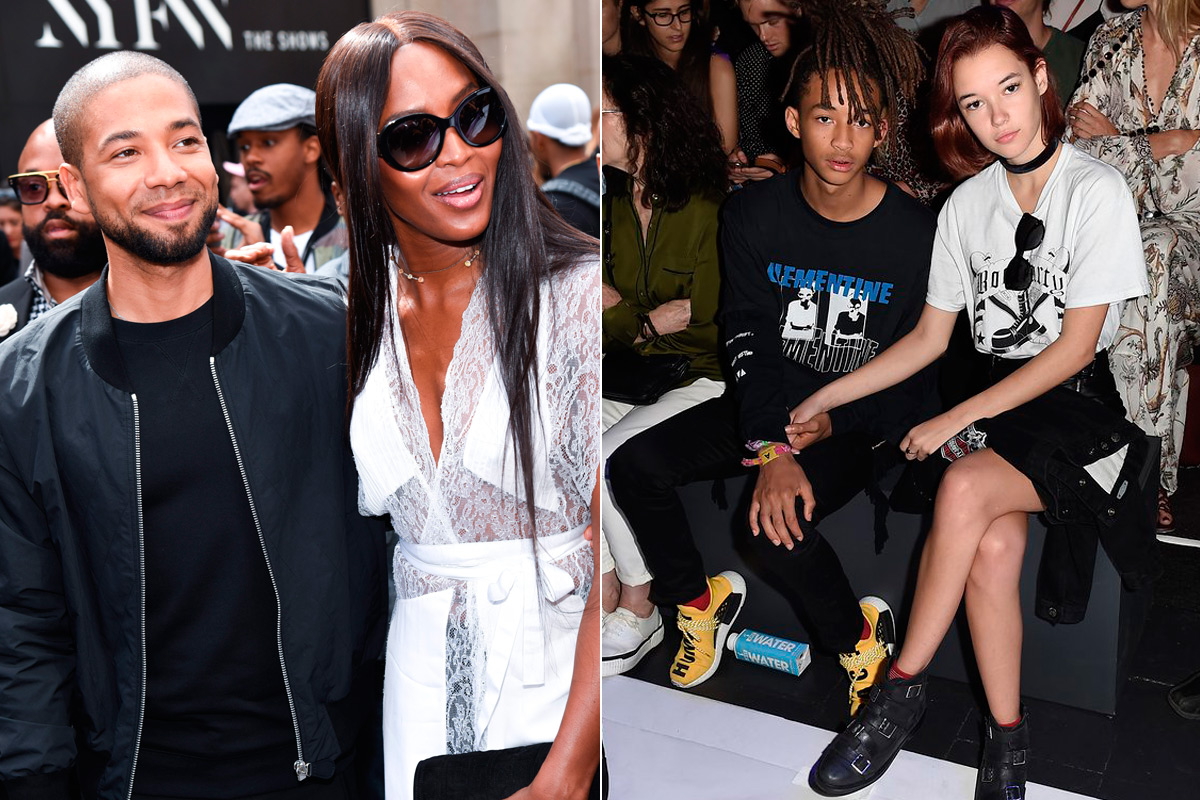 Naomi Campbell o Jaden Smith en el 'front row'.